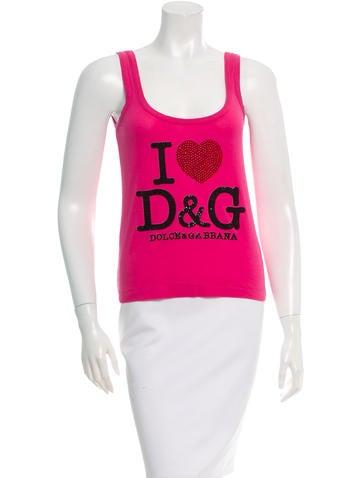 D&G Embellished Logo Top None