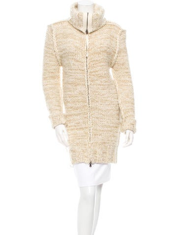 D&G Metallic-Accented Wool-Blend Cardigan None
