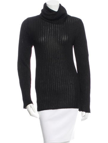 D&G Metallic-Accented Turtleneck Top None