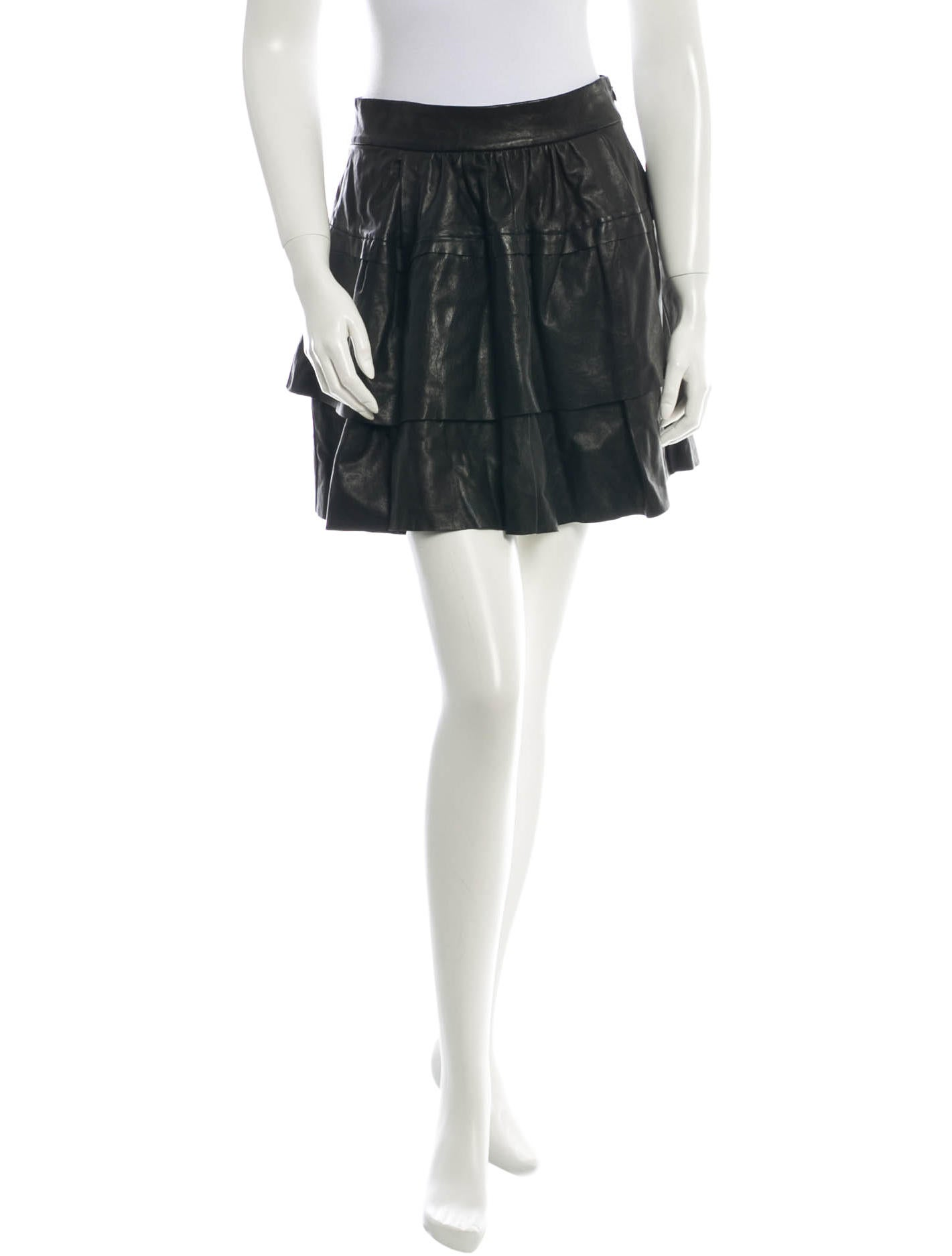 diane furstenberg leather skirt clothing wdi43809