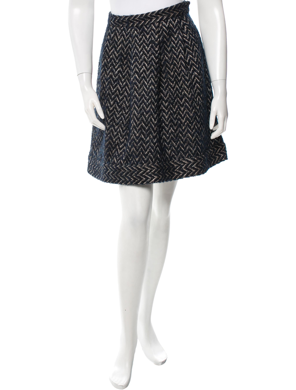 diane furstenberg tweed a line skirt skirts