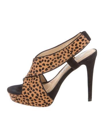 Diane von Furstenberg Square-Toe Platform Sandals