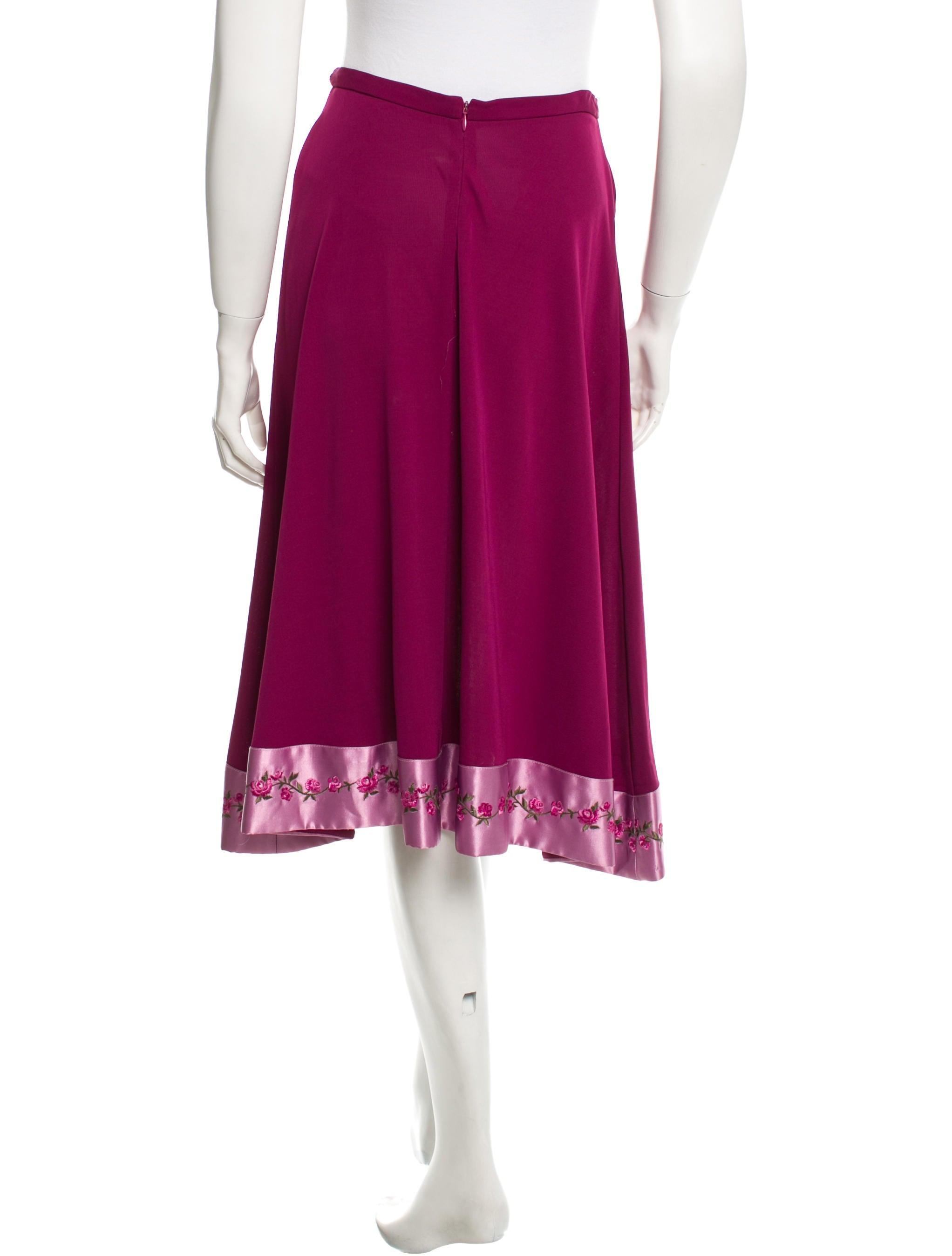 diane furstenberg embroidered midi skirt clothing