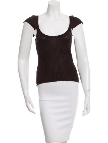 Diane von Furstenberg Silk Knit Top None