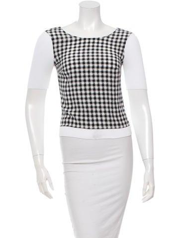 Diane von Furstenberg Short Sleeve Printed Top None