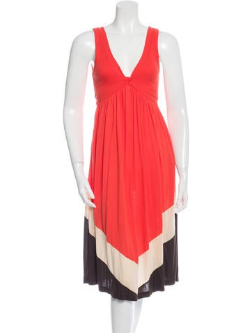 Diane von Furstenberg Colorblock Midi Dress None