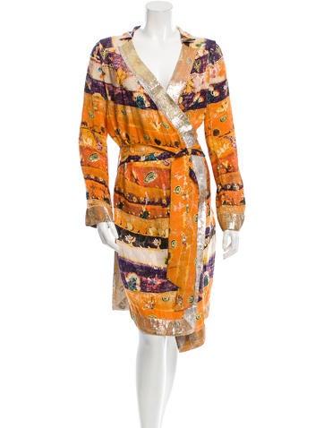 Diane von Furstenberg Silk Wrap Dress None