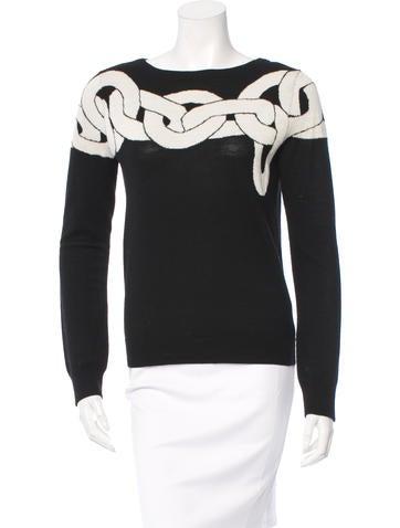 Diane von Furstenberg Patterned Wool Top None