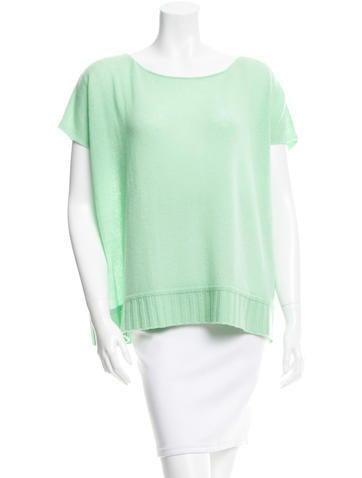 Diane von Furstenberg Cashmere Short Sleeve Sweater None
