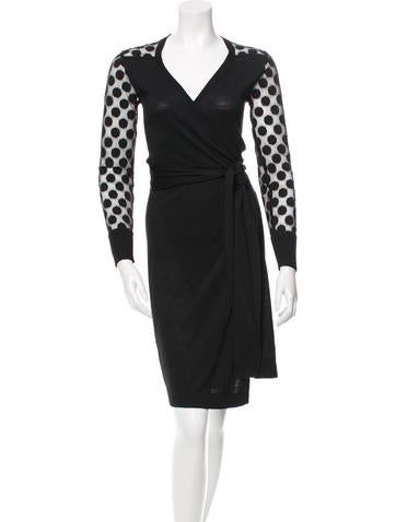 Diane von Furstenberg Silk Wrap Dress None