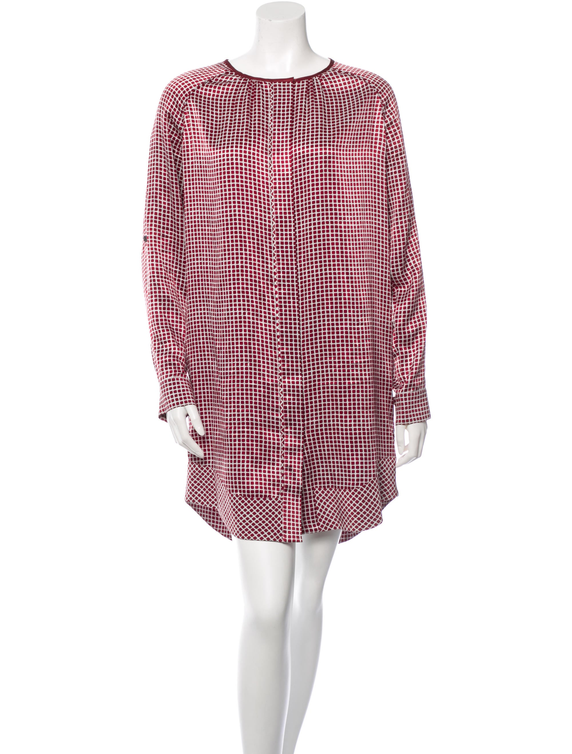 10 crosby derek lam silk shirt dress dresses wdl21749 for Derek lam 10 crosby shirt dress