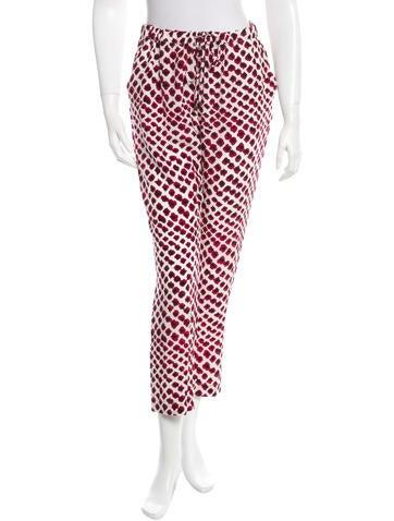 Derek Lam 10 Crosby Silk Printed Pants w/ Tags
