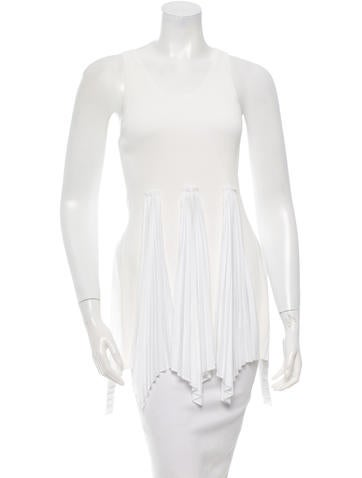 Derek Lam 10 Crosby Pleated Sleeveless Top w/ Tags None