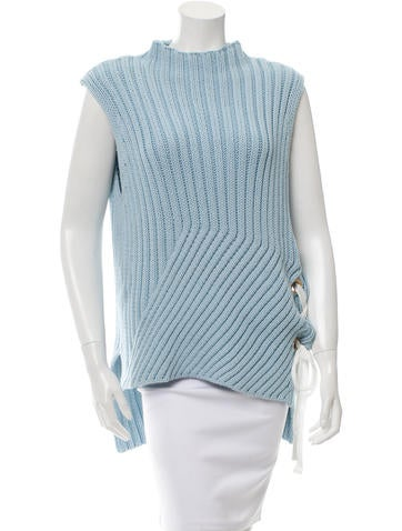 Derek Lam 10 Crosby Sleeveless Cable-Knit Sweater w/ Tags