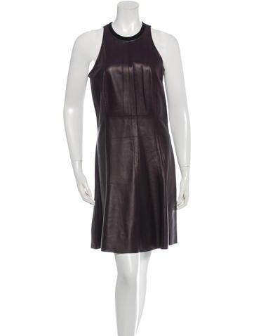Derek Lam 10 Crosby Leather Mini Dress None