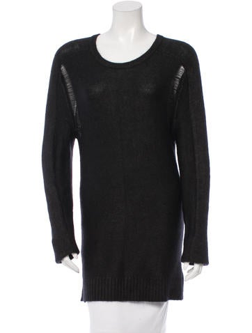 Edun Distressed Rib Knit Sweater None