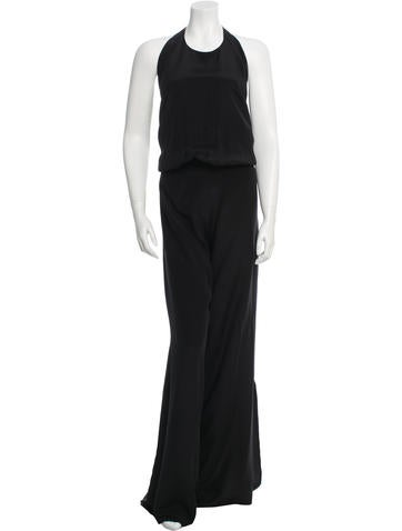 Alexis Silk Halter Jumpsuit w/ Tags None