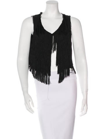 Alexis Fringe Crop Top w/ Tags None
