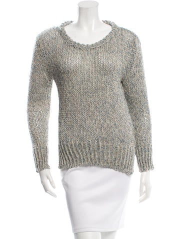 Giada Forte Open Knit Scoop Neck Sweater w/ Tags None