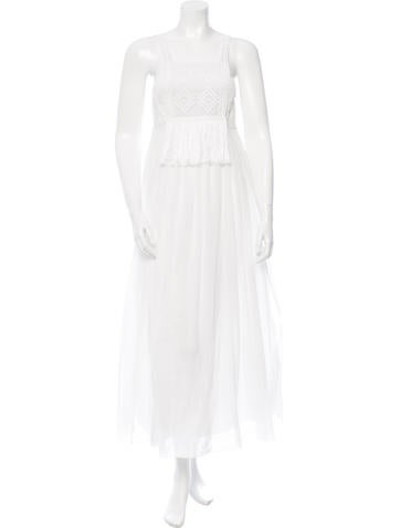 Giada Forte Crocheted Maxi Dress None