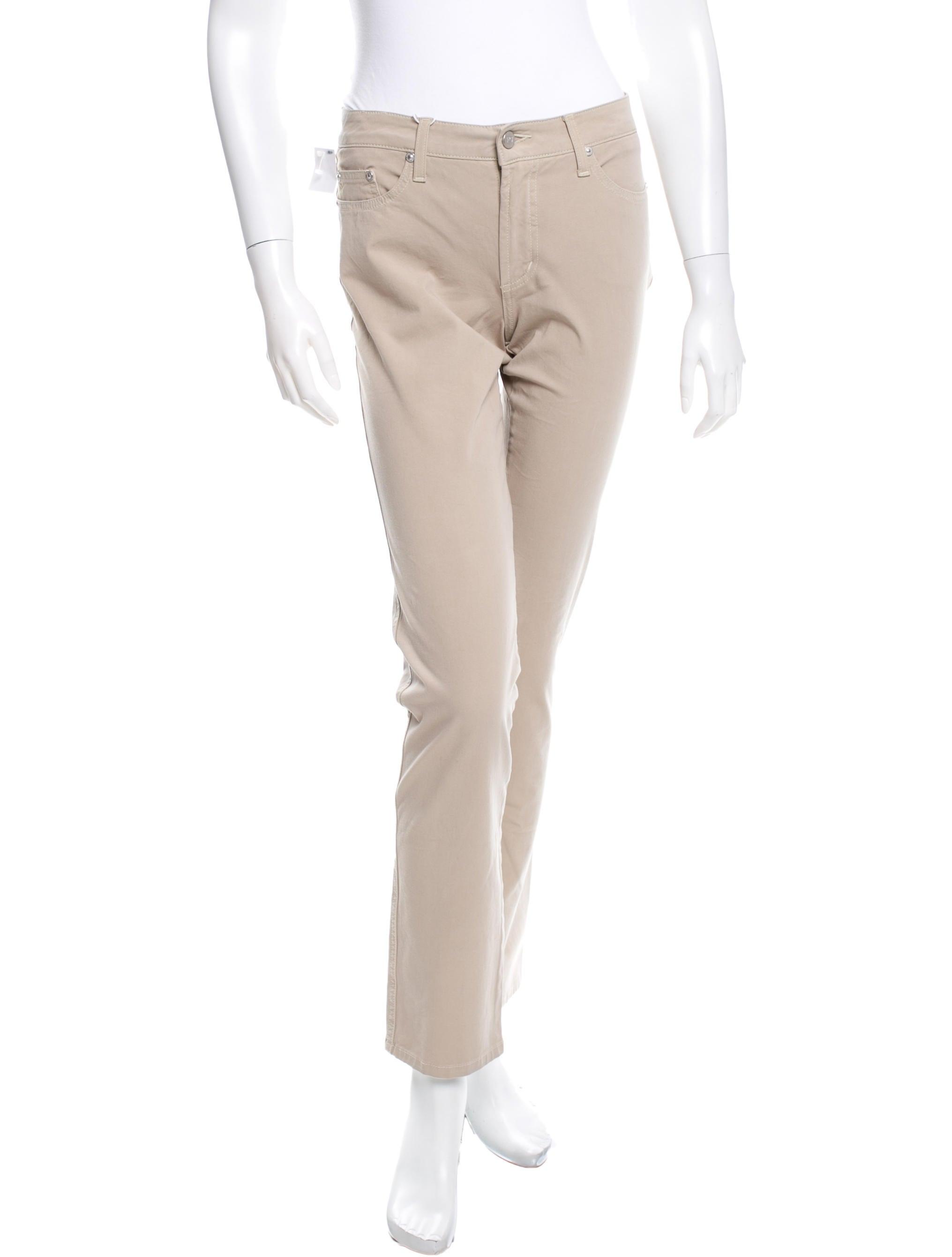 Fantastic Khaki Straight Leg Pants For Women In White