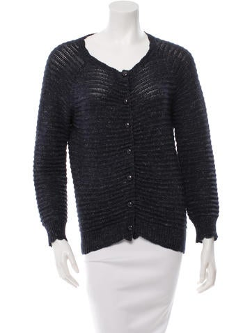 Golden Goose Pleated Knit Cardigan None