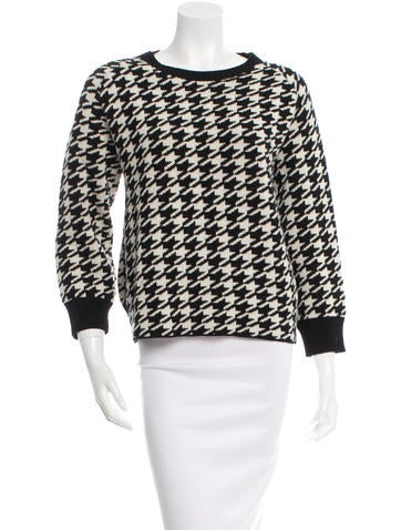 Golden Goose Houndstooth Wool Sweater None