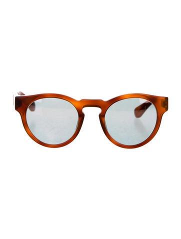 Westward\\Leaning Reflective Tortoiseshell Sunglasses