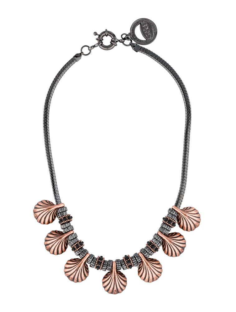Giles & Brother Rose Gold Plated Shell Necklace
