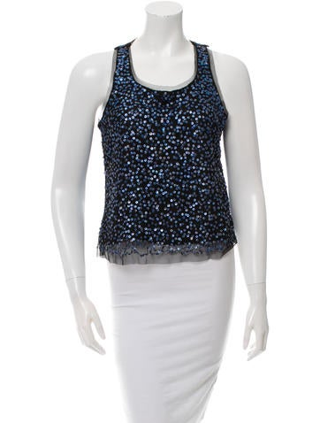 Gryphon Embellished Mesh Top w/ Tags None