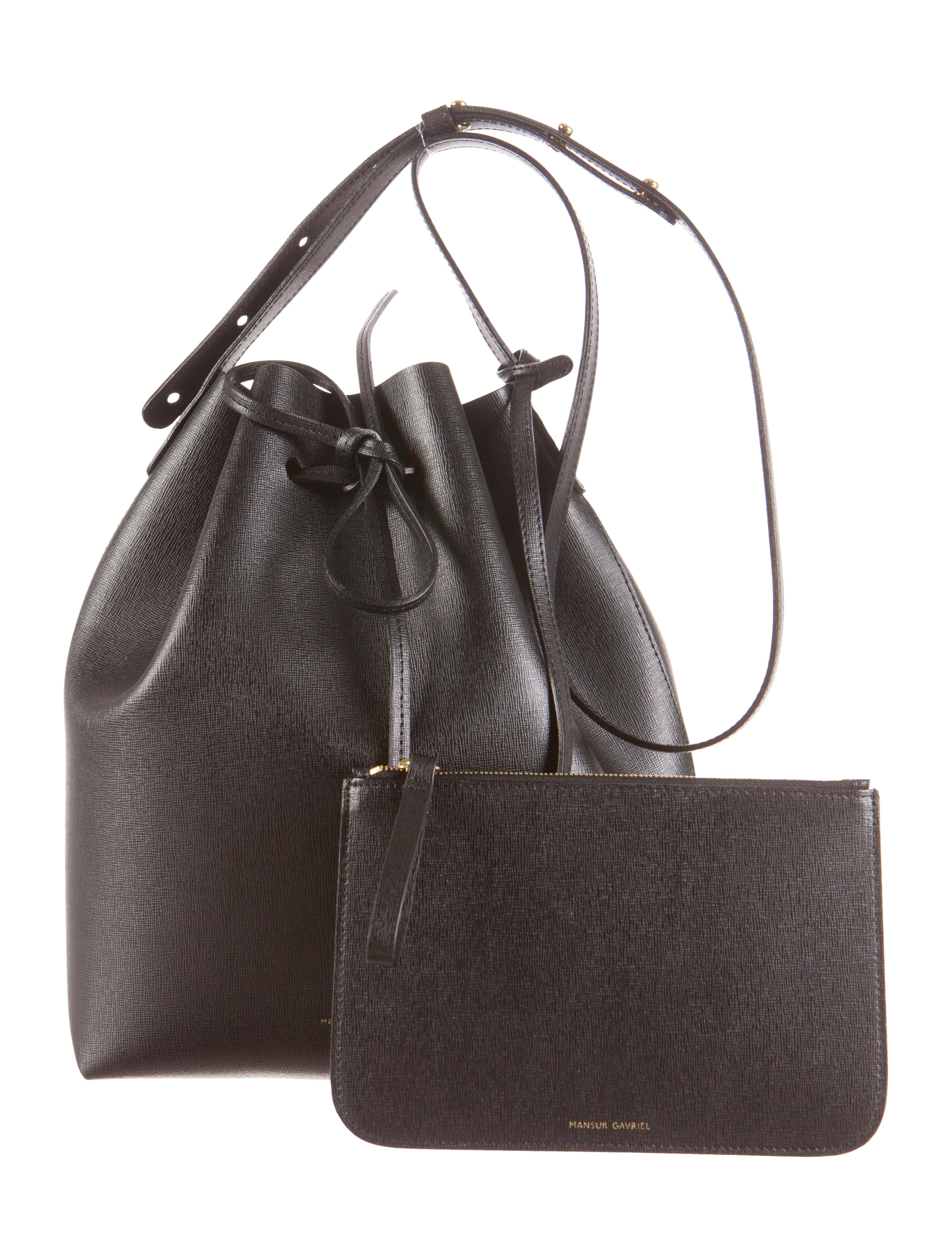 mansur gavriel bucket bag handbags wgy20168 the realreal. Black Bedroom Furniture Sets. Home Design Ideas