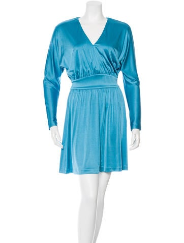 Halston Heritage Long Sleeve Flare Dress None