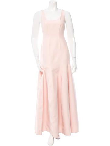 Halston Heritage Sleeveless Evening Gown None