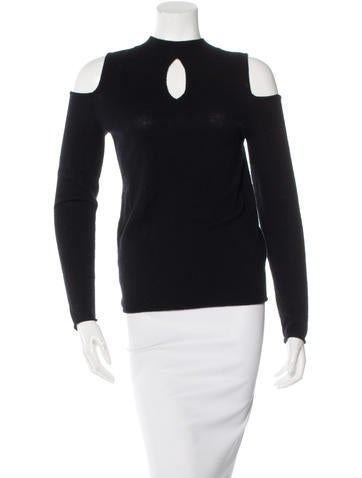 Halston Heritage Wool Cold Shoulder Sweater None