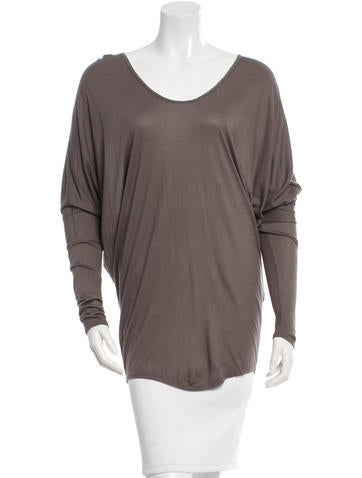 Helmut Lang Rib Knit Scoop Neck Top None