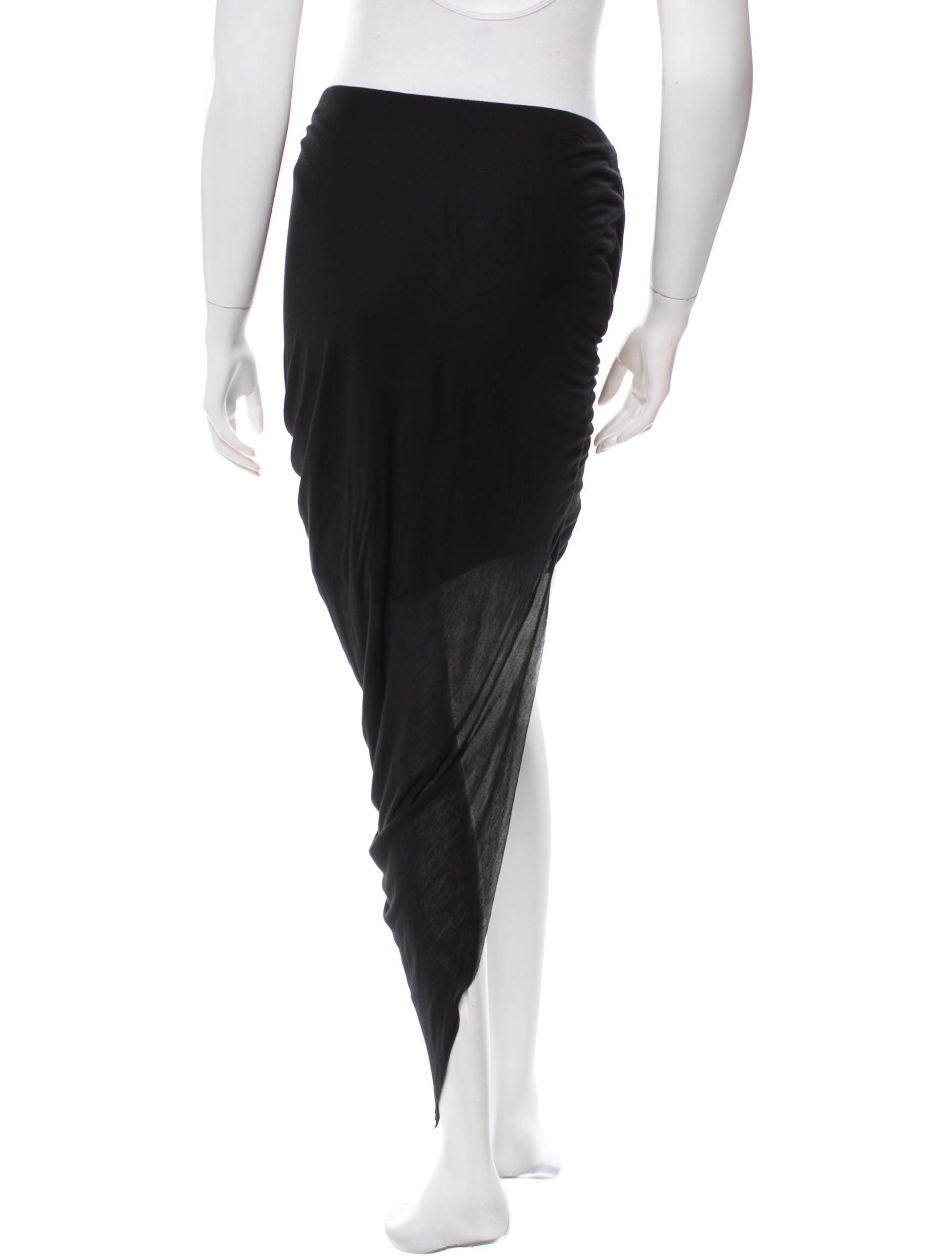helmut lang asymmetrical high low skirt skirts