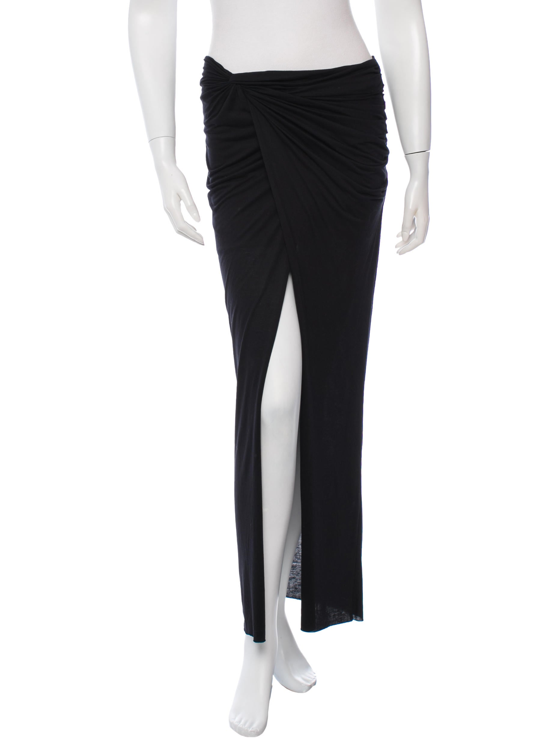 helmut lang twist accented maxi skirt skirts