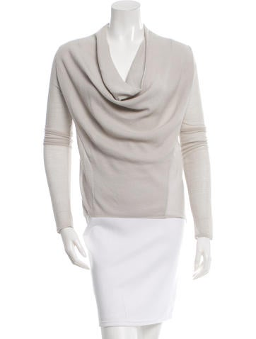 Helmut Lang Wool Off-The-Shoulder Top None
