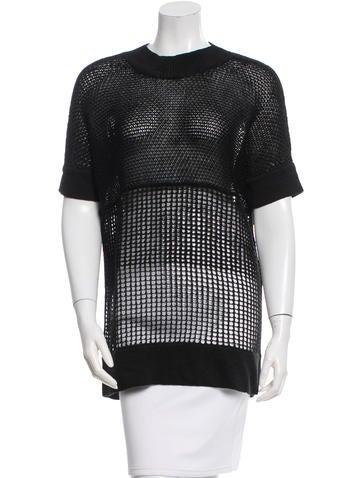 Helmut Lang Short Sleeve Linen Top None