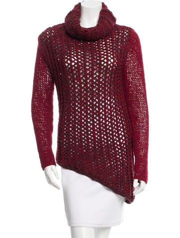 Helmut Lang Asymmetrical Long Sleeve Sweater None