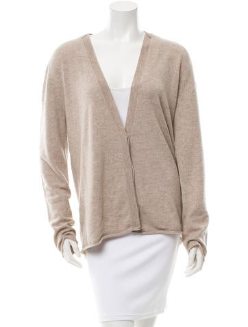 Inhabit Cashmere Rib Knit-Trimmed Cardigan w/ Tags None