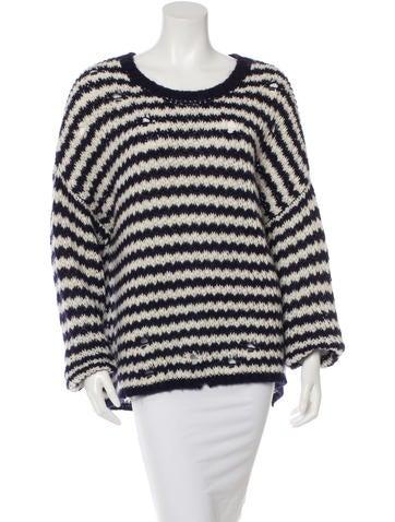 Iro Distressed Striped Sweater None