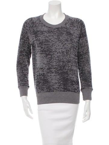 Iro Burnout Sweatshirt None
