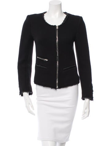 Iro Textured Collarless Jacket None