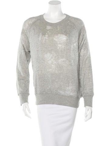 Iro Distressed Pullover Sweatshirt None