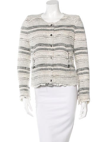 Iro Tweed Striped Jacket None