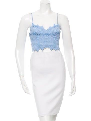 Jonathan Simkhai Sleeveless Embroidered Crop Top None