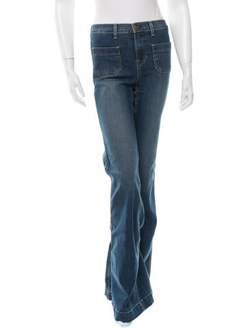 J Brand High-Rise Wide-Leg Jeans w/ Tags