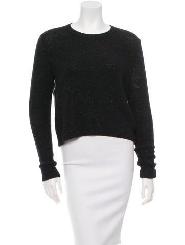 J Brand Knit & Leather-Paneled Sweater