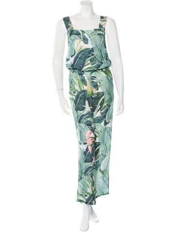 Just Cavalli Sleeveless Floral Print Jumpsuit None